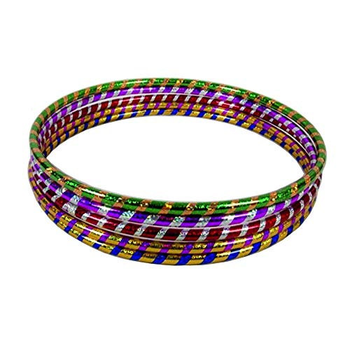 GAX Glitter Hula Hoops - Multicolour Sporting Good - Weight Loss Games - Fitness Activity Hula Hoops - Exercise Hula Hoops for Unisex Kids & Adults - Sports Dance Rings Pack of 6 Small (40-45 cm)