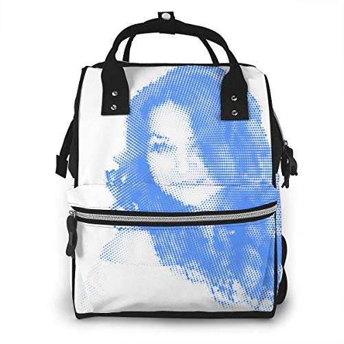 NHJYU Sac à langer, Large Capacity Waterproof Travel Ma-na-ger,baby Care Replacement Bag Versatile Stylish And Durable, Suitable For Mom And Dad,Blue Personality Woman