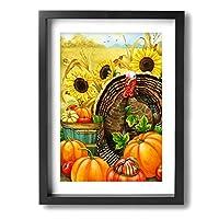 アートパネル フォトフレーム 絵画 壁掛け油彩画 Hello Turkey Framed Painting 抽象画 壁の絵 壁掛け ソファの背景絵画 壁アート新築飾り 贈り物 30x40cm