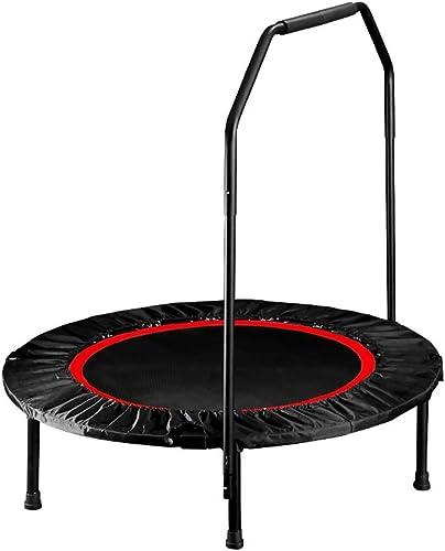 salida GCCLCF GCCLCF GCCLCF Fitness trampolín Plegable Gimnasio trampolín 92 cm, asa Ajustable, Capacidad de Carga 150 KG Adaptada a la condición física de los Niños Adultos,rojo  Garantía 100% de ajuste