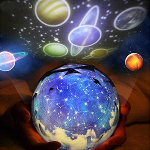 Stelle Cielo Stellato Led Proiettore per Luce Notturna Luminaria Moon Novità Lampada da Tavolo Lampada da Notte Batteria usb Luce Notturna per Bambini