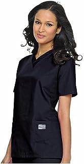 Landau Scrub Zone Women's Professional Comfortable & Durable 3-Pocket V-Neck Scrub Top