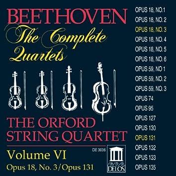 BEETHOVEN, L.: String Quartets (Complete), Vol. 6 - Nos. 3 and 14 (Orford String Quartet)