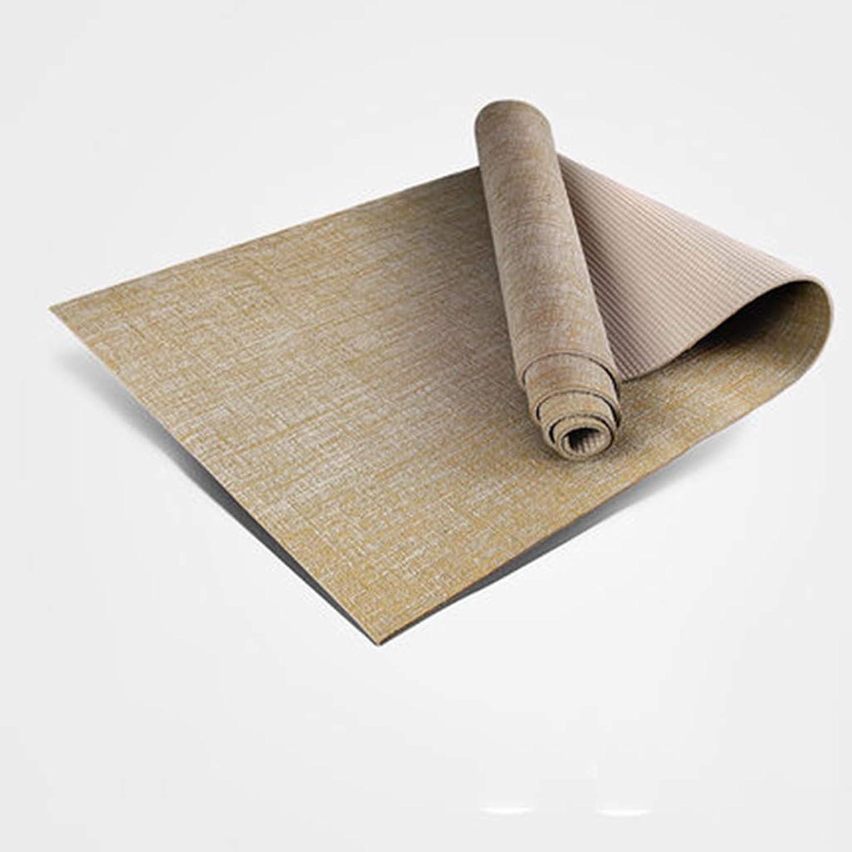 CQOZ Yogamatte übungsmatte Umweltschutz PVC-Material rutschfeste Professionelle Fitnessmatte Eine Vielzahl Von Farben Optional Mat Yoga (Farbe   E, Größe   5mm)