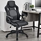 ArtLife Racing Schreibtischstuhl Montreal ergonomisch höhenverstellbar & gepolstert 120 kg belastbar Bürostuhl Drehstuhl PC Gaming Stuhl – grau