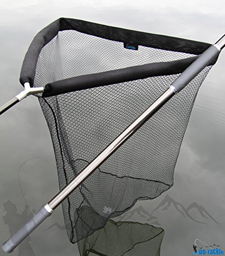 DD-Tackle Deluxe sacadera de Carpas con flotabilidad Ayuda 105x 105cm + Carbon sacadera Barra 1,80m + Funda