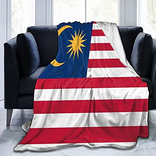 Flanelldecke mit Malaysia-Flagge, flauschig, bequem, warm, leicht, weich, Überwurf für Sofa, Couch, Schlafzimmer