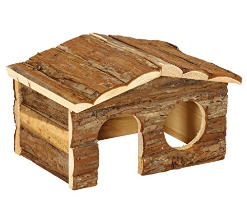 Dehner – Casa para roedores Forest, Aprox. 26 x 19,5 x 16 cm, Madera, Color Natural