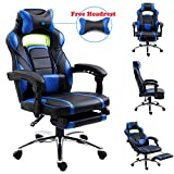 EUCO Gaming Chair,Racing Style Reclining Computer Chair with Retractible Footrest Comfy Executive Office