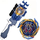 Battling Sparking String Launcher, Brave Valkyrie Top Burst Launcher Set, Left and Right Spin String Launcher Grip Compatible with All Bey Burst Series - Blue