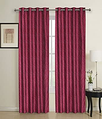 #1 Embroidered Window Treatments For Girls Bedroom/ Kids Nursery - Luxury Faux Silk Drapes - Cute Sheer Decorative Sparkle Blinds- Rod Pocket Curtains - One Panel