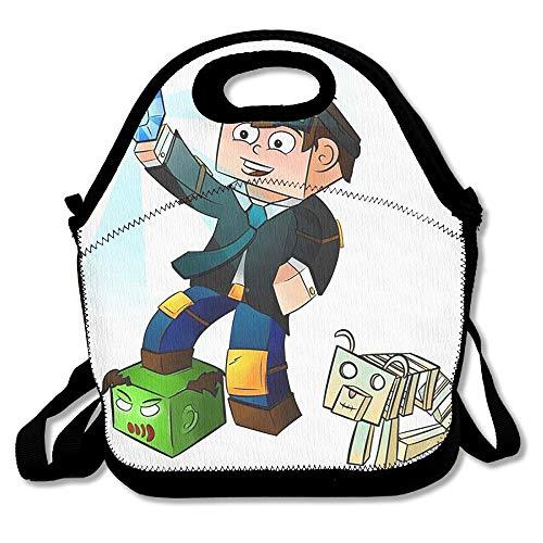 The Diamond Minecart DanTDM Lunch Bag Tote Handbag