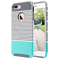 ULAK iPhone 7 Plus Case, Slim Dual Layer Protection Scratch Resistant Hard Back Cover Shock Absorbent TPU Bumper Case for Apple iPhone 7 Plus 5.5 inch, Mint