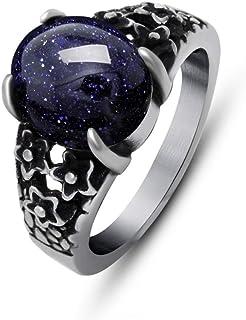الرجال والنساء خاتم الاستبداد المحكمة الأحمر الرمان خاتم الفولاذ مجوهرات الأحجار الكريمة خاتم التيتانيوم شخصية ريترو