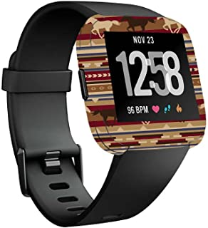 MightySkins Skin Compatible with Fitbit Versa Smartwatch - Western Horses | Protective, Durable, and Unique Vinyl Decal wrap Cover | Easy to Apply, Remove, and Change Styles | Made in The USA
