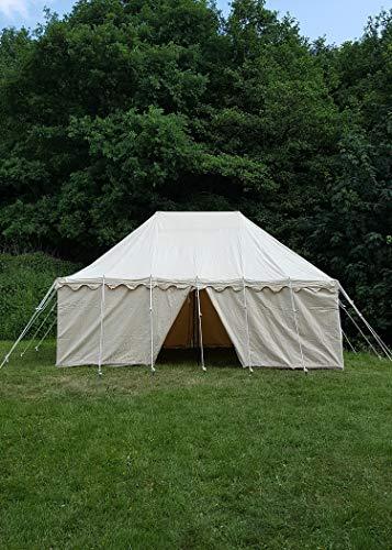 Ritter Tente Mark Ward, 6x 4m, 425GMS, Naturel Camping médiévale Force Tente Roulement LARP Viking