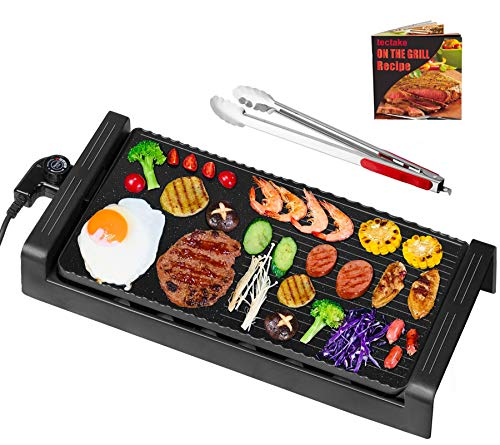 tectake Smokeless Indoor Grill, Nonstick Deluxe Electric Griddle with...