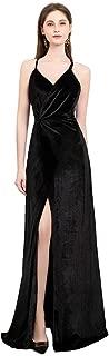 Women Vintage Velvet Party Dresses Maxi Slip Evening/Prom/Formal Occasion
