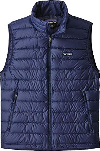 Patagonia M's Down Sweater Vest Manche Homme, Bleu Marine (Classic Navy w/Classic Navy), XL