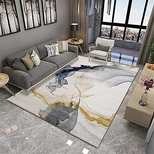 Alfombra Comedor,Alfombra Blanca Gris, Mesa de té fácil de vacío Antibacterial Easy Shop Carpet ,alfombras salón -Grisáceo_200x230cm