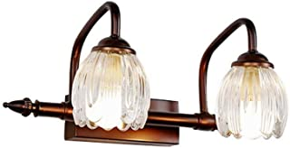 LMDH Rústico Montado en la Pared Luz Industrial Estilo Vintage Aplique de Pared Lámpara de Vidrio Accesorio de iluminación...