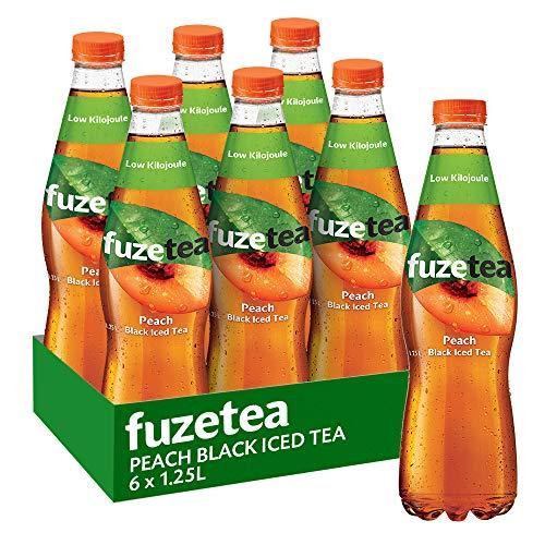 Fuze Peach Black Iced Tea Bottle, 6 x 1.25 l