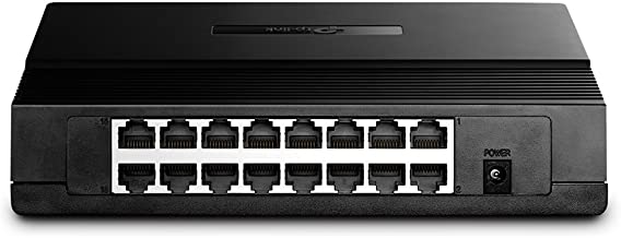 TP-Link 16-Port Fast Ethernet Unmanaged Switch | Plug and Play | Desktop (TL-SF1016D)