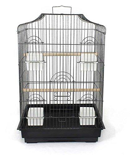 Pet's Solution Gabbia per Uccelli Nero martellato Mis. EST. 47x36x71 cm