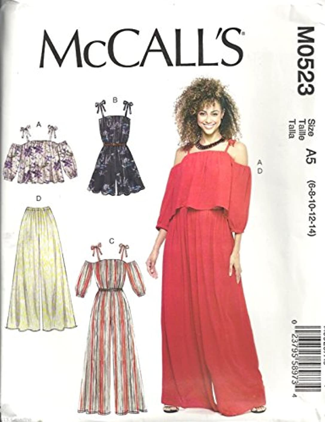 McCalls Pattern M0523 Misses Top, Romper, Jumpsuit and Pants Size 6-8-10-12-14