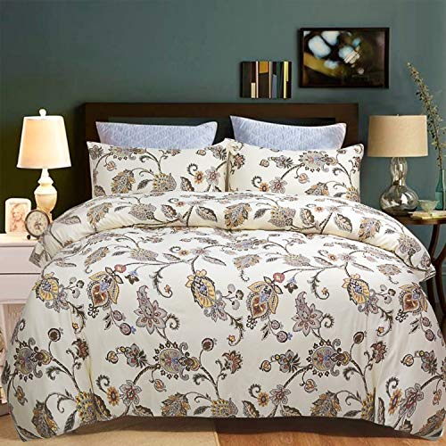 Softta Bamboo Duvet Cover King Bedding 3 Pcs Floral Luxury and Elegant...