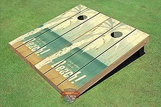 All American Tailgate Beach Life #1 Custom Cornhole Board