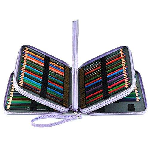 Corasays 色鉛筆ホルダー 160本入れ ペンシルホルダー 大容量 色鉛筆 収納 筆箱 鉛筆ホルダー 人気 色鉛筆 (パープル)