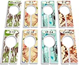 Closet Dividers for Baby Clothes by YardieBaby [Unisex Neutral] Safari Animal - Set of 8 - Baby Clothing Size Age Hanger Dividers from Newborn Infant to Toddler Months - Boys & Girls Baby Clothes Dividers and Nursery Closet Organizer