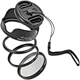 <span class='highlight'><span class='highlight'>Impulsfoto</span></span> Starter Kit Compatible with Canon Powershot SX50 HS, SX520 HS with UV Filter, Polarising Filter, Lens Hood, Lens Cap and Adapter