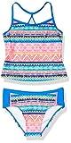 Tommy Bahama Girls' Two-Piece Bikini Swimsuit Bathing Suit, Blue/Red Tank, 4