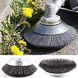 Cepillo para malas hierbas, cepillo para desbrozadora de 200 × 25,4 mm y 150 × 24,4, cepillo para desmalezas, accesorio de jardín (200 mm)