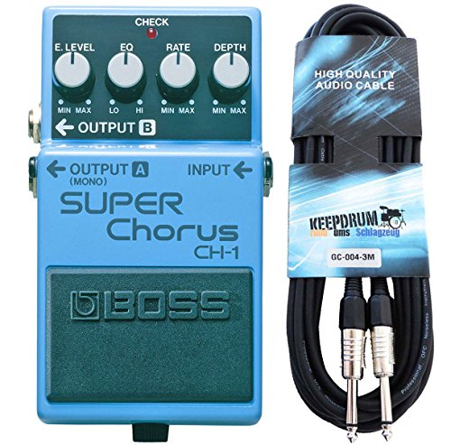 Boss CH-1 Super Chorus - Cable para guitarra (estéreo, 3 m)