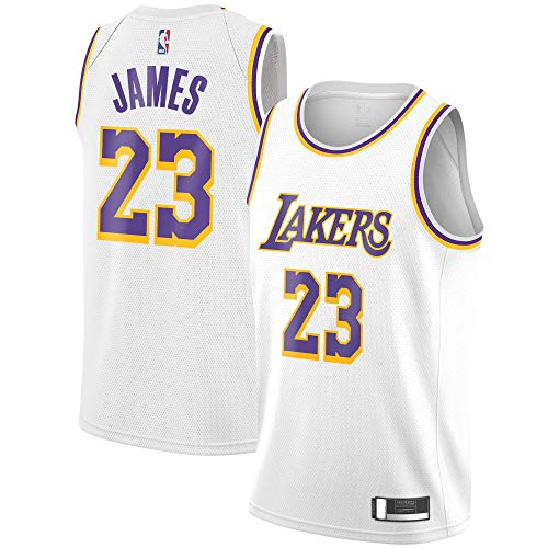 Outerstuff Lebron James Los Angeles Lakers #23 White Youth Association Edition Swingman Jersey (Medium 10/12)