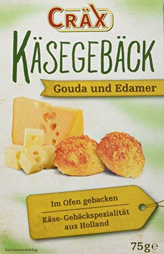 Cräx Käsegebäck mit echtem Gouda und Edamer 75 g (1 x 75 g)