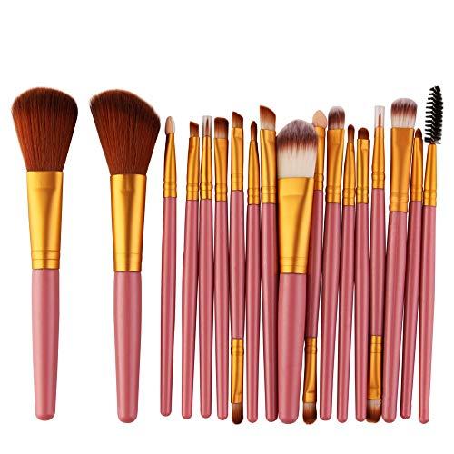 Brosses Pinceaux de maquillage ensembles pinceaux de maquillage professionnel avec Blush Foundation pinceau surligneur Blending Bleach Beauty Concealer Tools (18pcs) Maquillage pour les femmes