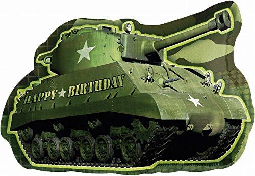 Amscan Camouflage Verjaardag Leger Tank Super Vorm Folie Ballon