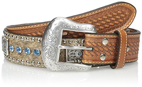 Nocona Belt Co. Men's Blue Bar Bling, Natural, 34