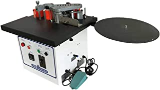 Benchtop Edge Bander TS500 Desktop Automatic Belt Edge Banding Machine with Double-Sided Glue, Adjustable Speed, Woodworking Edgebander Trimmer Tool Cut Thickness 2.36in Max