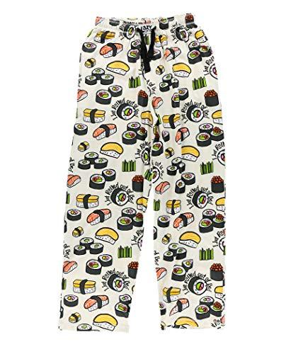 Lazy One Pajama Pants for Men, Men's Separate Bottoms, Lounge Pants, Food, Chop Sticks (Sushi Men's PJ Pant, Large)