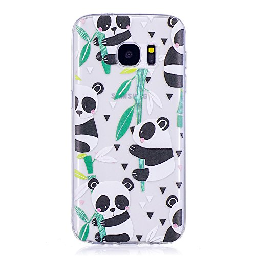 New Cfrau Clear Case with Black Stylus Compatible with Samsung Galaxy S7,Women Girls Colorful Print ...