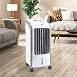 Taylor & Brown® 80W Portable Evaporative Air Cooler with Remote Control, 3 Fan Speeds, 7.5 Hour Timer and 4 Litre Water Tank for Home or Office Use