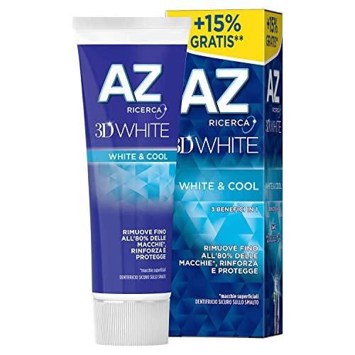 AZ 3D White White & Cool Dentifricio - Confezione da 8 x 75ml (Totale: 600 ml)