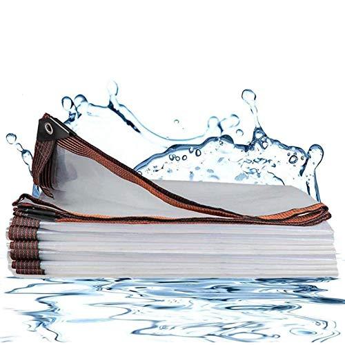 ZHCHL Lona Transparente Impermeable Exterior 2x3m, Lona De Proteccion De Polietileno, Lona Suelo Camping Lona Plastico Transparente, Lona De Proteccion para Balcones Y Terrazas