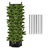 luter 7 tasche da giardino verticale per piante - fioriera verticale da interno con 8 fascette impermeabile sacchi per piante sospesa per la decorazione del cortile del giardino di casa - nero