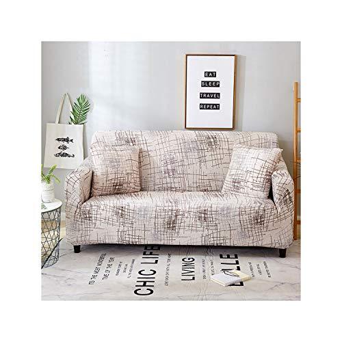 HGblossom Moderne Leopard Sofa Cover elastisch für Wohnzimmer Spandex Sofa Stuhl Cover 1/2/3/4 Sitzbezug komplett umwickelt Farbe 21 Kissenbezug 2Pc